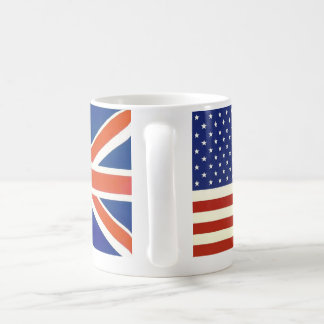USA British flags Basic White Mug
