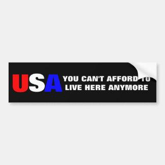 """""""USA"""" Bumper Sticker Car Bumper Sticker"""