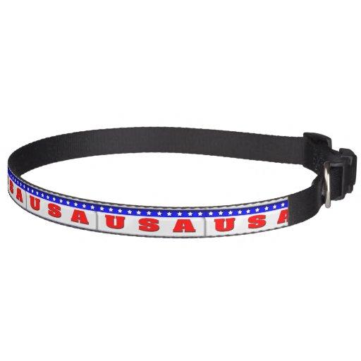 USA bumper sticker design Pet Collar