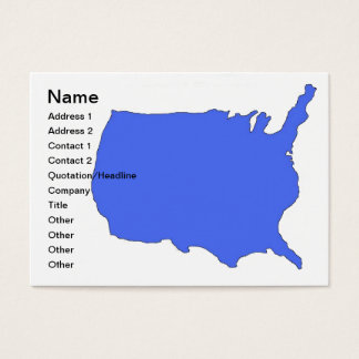 usa business cards large