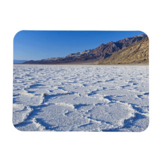USA, CA, Death Valley NP, Salt Formations at Rectangular Photo Magnet
