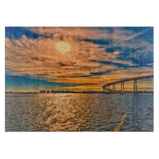 USA, CA, San Diego-Coronado Bay Bridge Cutting Board
