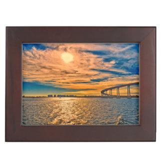 USA, CA, San Diego-Coronado Bay Bridge Keepsake Box