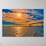 USA, CA, San Diego-Coronado Bay Bridge Poster