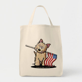 USA Cairn Terrier Grocery Tote Grocery Tote Bag