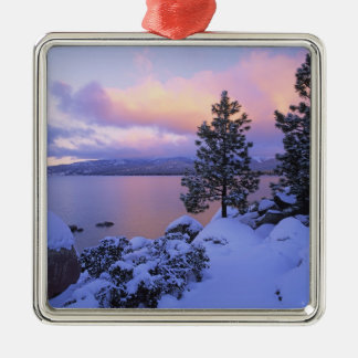 USA, California. A winter day at Lake Tahoe. Christmas Ornament