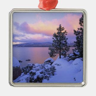 USA, California. A winter day at Lake Tahoe. Christmas Ornament