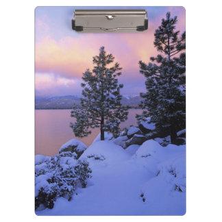 USA, California. A winter day at Lake Tahoe. Clipboard