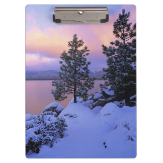 USA, California. A winter day at Lake Tahoe. Clipboards