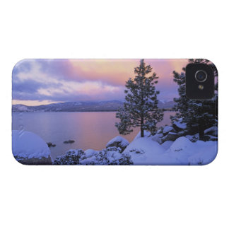 USA, California. A winter day at Lake Tahoe. iPhone 4 Case-Mate Cases