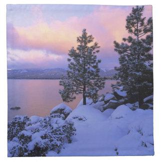 USA, California. A winter day at Lake Tahoe. Napkin
