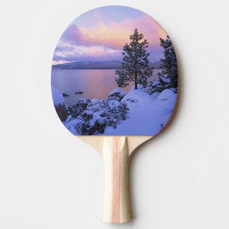 USA, California. A winter day at Lake Tahoe. Ping Pong Paddle