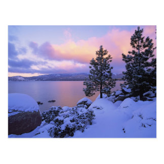 USA, California. A winter day at Lake Tahoe. Postcard