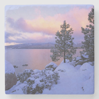 USA, California. A winter day at Lake Tahoe. Stone Coaster