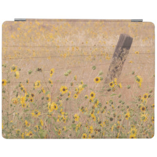 USA, California, Adin. Barbed-Wire Fence iPad Cover