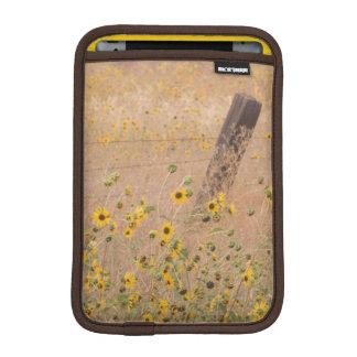 USA, California, Adin. Barbed-Wire Fence iPad Mini Sleeve