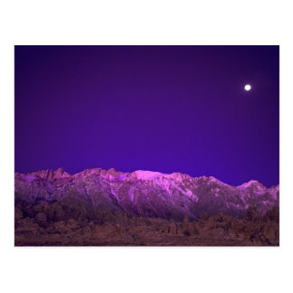 USA, California, Alabama Hills. Moonset over Postcard