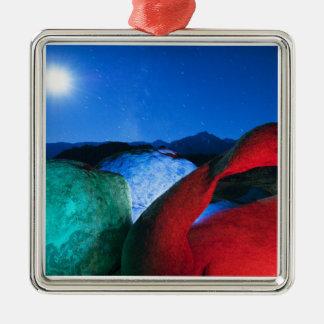 USA, California, Alabama Hills, Night photo of Christmas Ornament