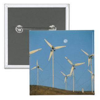 USA, California, Altamont Pass, wind generators. 15 Cm Square Badge