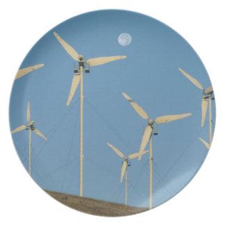 USA, California, Altamont Pass, wind generators. Dinner Plates