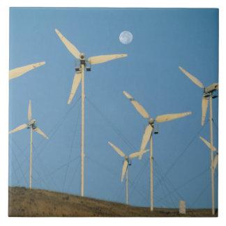 USA, California, Altamont Pass, wind generators. Large Square Tile