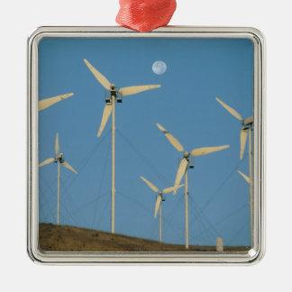 USA, California, Altamont Pass, wind generators. Silver-Colored Square Decoration