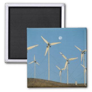 USA, California, Altamont Pass, wind generators. Square Magnet