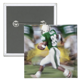 USA, California, American football player 15 Cm Square Badge