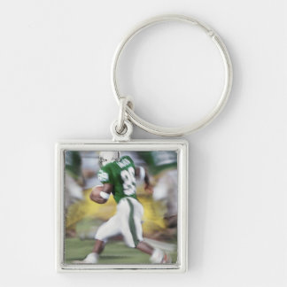 USA, California, American football player Silver-Colored Square Key Ring