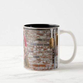 USA, California, Berkeley, Mid adult woman Two-Tone Coffee Mug