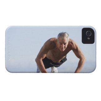 USA, California, Berkeley, Senior man exercising iPhone 4 Covers