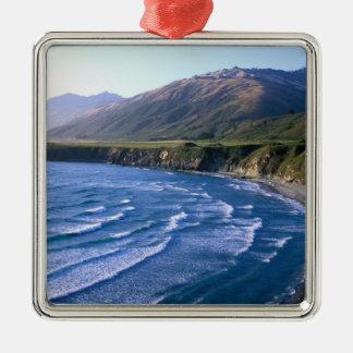 USA, California, Big Sur, bay along Highway 1. Christmas Ornament