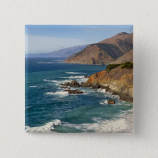 USA, California, Big Sur Coastline 15 Cm Square Badge