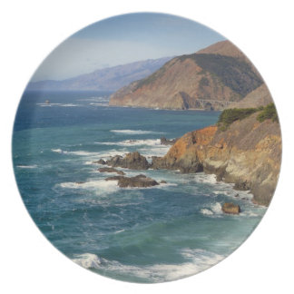 USA, California, Big Sur Coastline Plate
