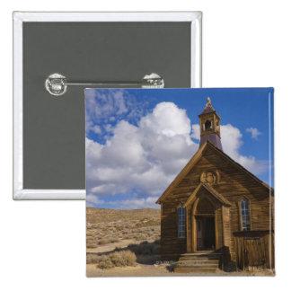 USA, California, Bodie, Old church in desert 15 Cm Square Badge