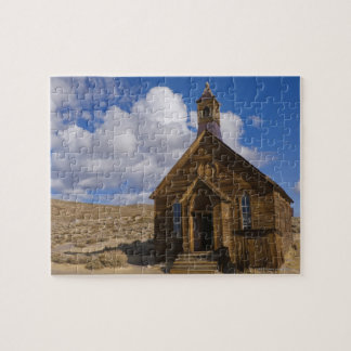 USA, California, Bodie, Old church in desert Jigsaw Puzzle