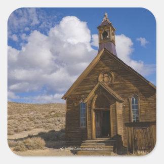 USA, California, Bodie, Old church in desert Square Sticker