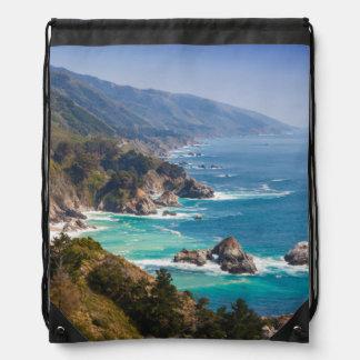 USA, California. California Coast, Big Sur Drawstring Bag
