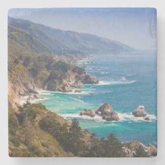 USA, California. California Coast, Big Sur Stone Coaster