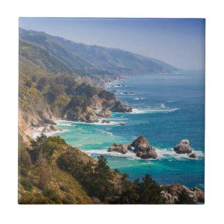 USA, California. California Coast, Big Sur Tile