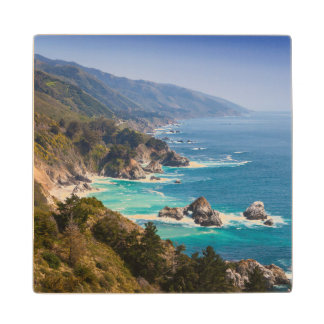 USA, California. California Coast, Big Sur Wood Coaster