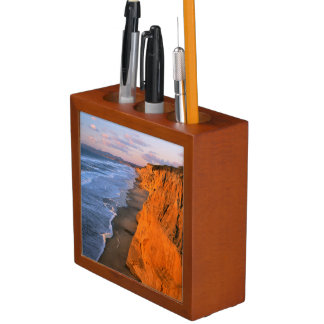 USA, California, Cliffs At Pescadero State Beach Desk Organiser