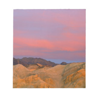 USA, California, Death Valley NP. Sunset offers Notepad