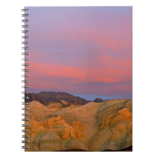 USA, California, Death Valley NP. Sunset offers Spiral Note Book