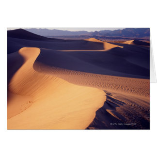 USA, California, Death Valley, sand dunes, dawn Card