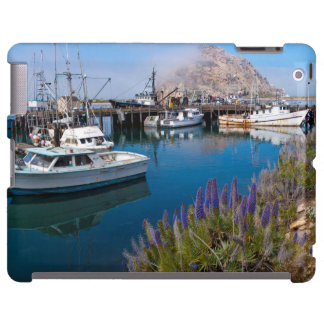USA, California. Docked Boats At Morro Bay iPad Case