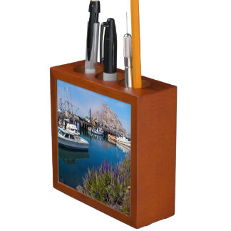 USA, California. Docked Boats At Morro Bay Desk Organiser