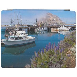 USA, California. Docked Boats At Morro Bay iPad Cover