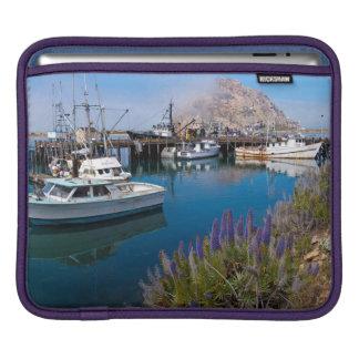 USA, California. Docked Boats At Morro Bay iPad Sleeve