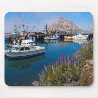 USA, California. Docked Boats At Morro Bay Mouse Mat